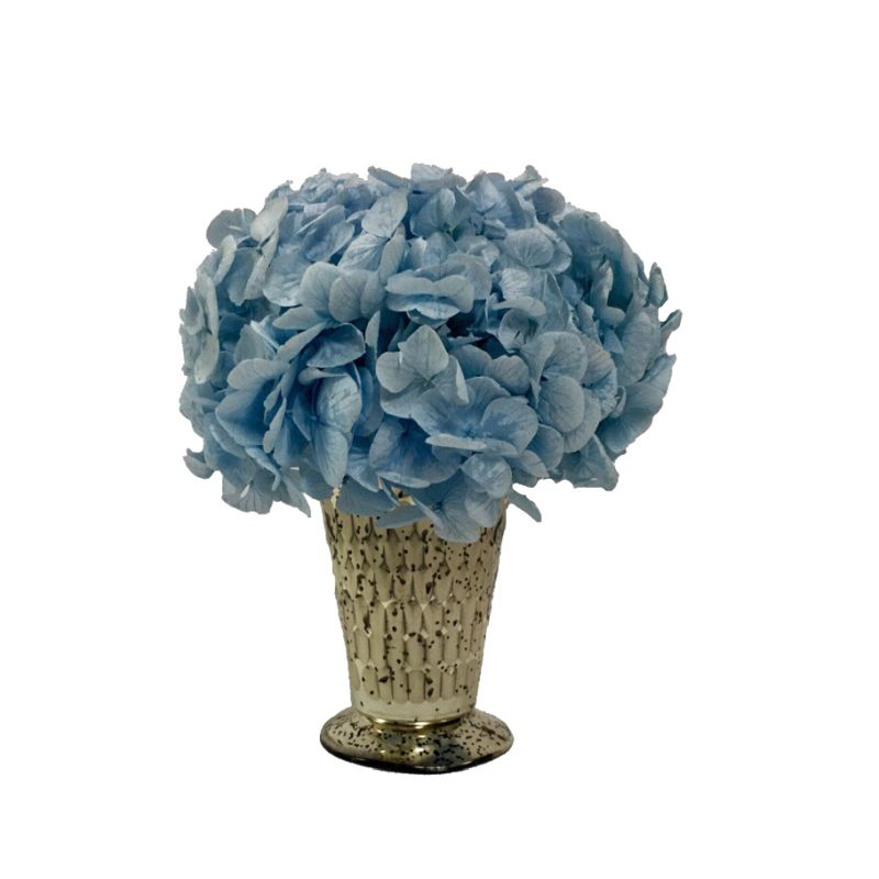 Glass Julep Cup Hammered - Hydrangea Ice Blue