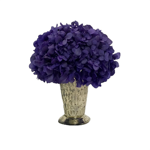 Glass Julep Cup Hammered - Hydrangea Purple
