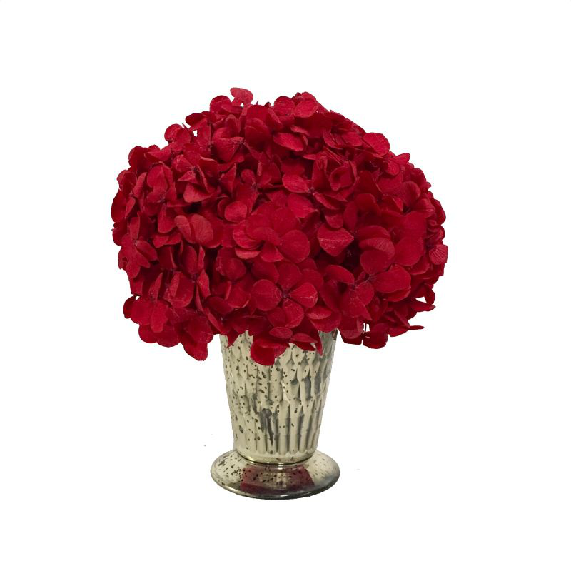 Glass Julep Cup Hammered - Hydrangea Red