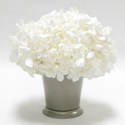 Julep Cup Pewter Metal - Hydrangea White