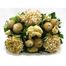 Load image into Gallery viewer, [RPCH-BKCLHDI] Copper Metal Rect Container - Banksia Natural, Celosia and Hydrangea Ivory