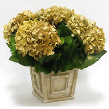 Load image into Gallery viewer, [WMSP-WA-HDI] Wooden Weathered Antique Square Mini Container - Hydrangea Ivory
