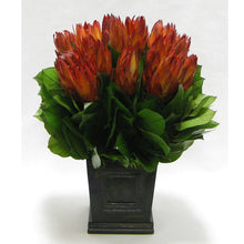 Load image into Gallery viewer, Wooden Mini Square Planter w/Inset Black Antique - Protea