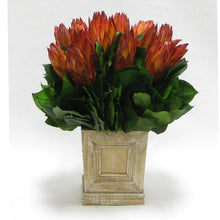 Load image into Gallery viewer, Wooden Mini Square Planter w/Inset Natural - Protea