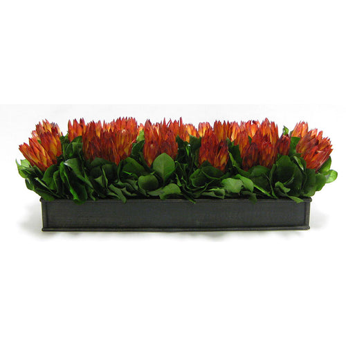 Wooden Rect. Container Antique Black - Protea