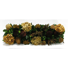 Load image into Gallery viewer, [WSRP-WA-MLBNI] Wooden Rect. Container Natural - Multi Brown and Hydrangea Ivory