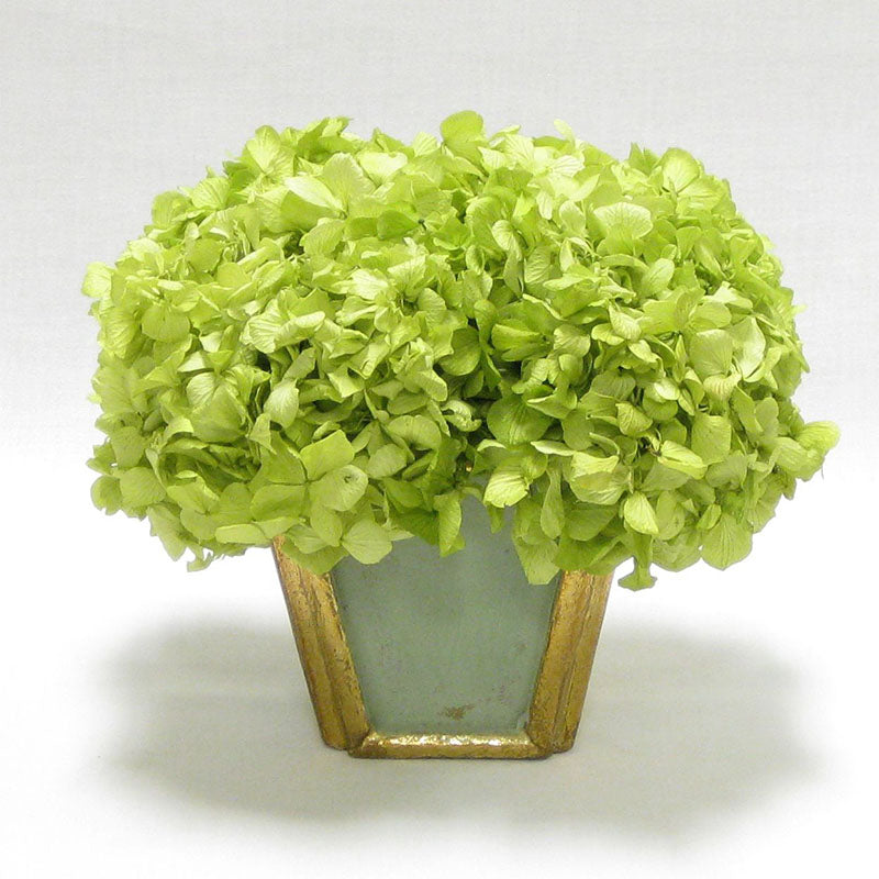 Wooden Small Container Grey Green - Hydrangea Basil