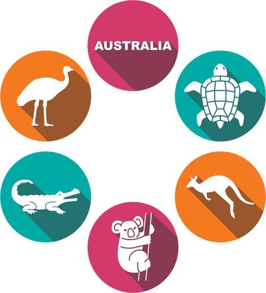 Australian Wildlife Coaster Set