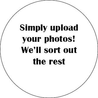 Simply upload your photos! We'll sort out the rest