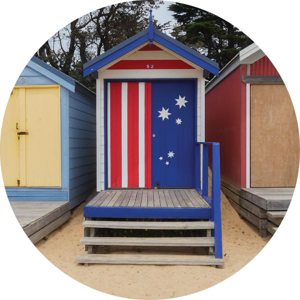 Australia Mills Beach Bathing Boxes, Melbourne
