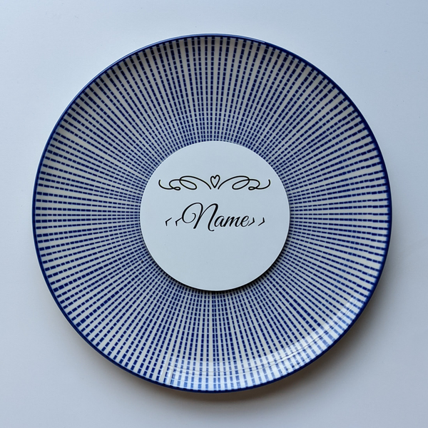 Wedding Name Place Metal Coaster