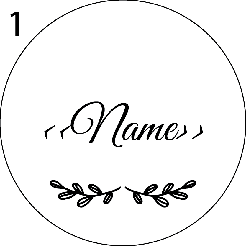 Wedding Name Place Design 1
