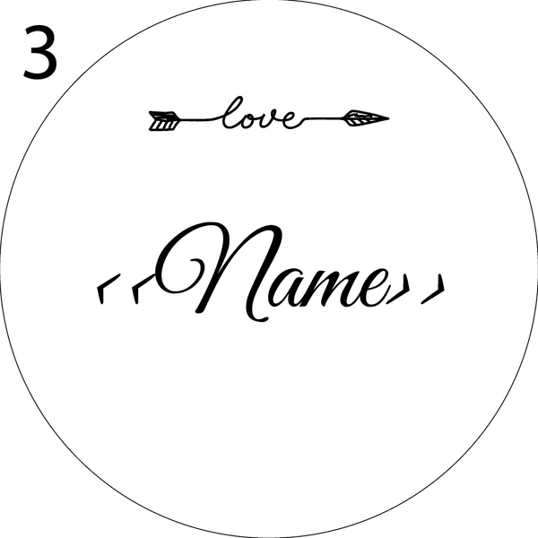 Wedding Name Place Design 3