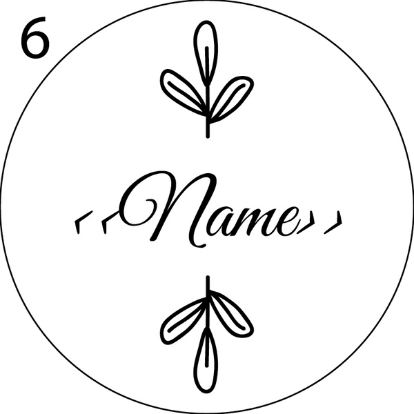 Wedding Name Place Design 6