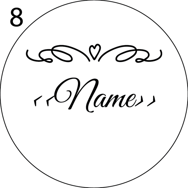 Wedding Name Place Design 8