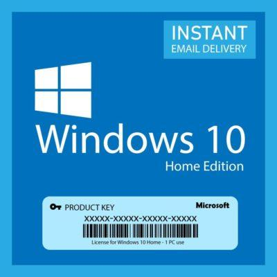 Windows 10 Home Product Key 32/64 Bit (Retail Version) Digital license key Instant Delivery