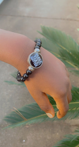 Small Black Lives Matter Bead Bracelet