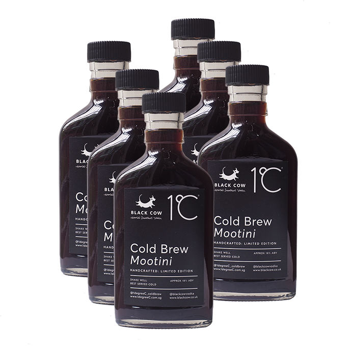 Black Cow Coldbrew Mootini 6 pack  Limited Edition - 6 x 185ml