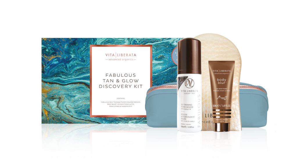 Vita Liberata Fabulous Tan & Glow Discovery Kit (Dark Lotion)