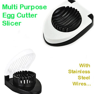 2129 Oval Shape Plastic Multi Purpose Egg Cutter/Slicer with Stainless Steel Wires