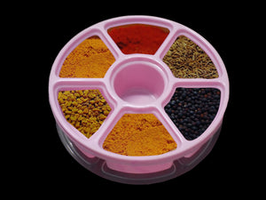 2133 Mini Spice Box/Masala Dabba with 7 Compartments