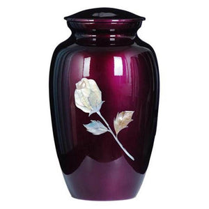 Printed Purple Urn