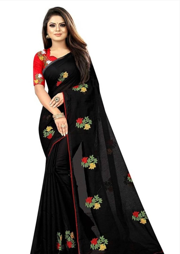 Trendy Chanderi Saree With Blouse Piece