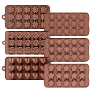 0742_Silicon Chocolate Molds, Candy Making Silicone Molds, Mini Baking Molds (Random Design 1 unit)