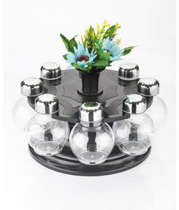 0745 Multipurpose Revolving Plastic Spice Rack Set (8 pcs)