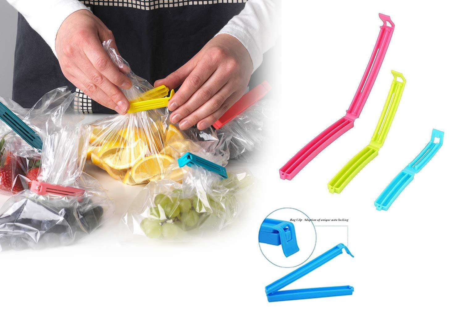 0105 Plastic Snack Bag Clip Sealer Set (18 Pcs, Multicolour)