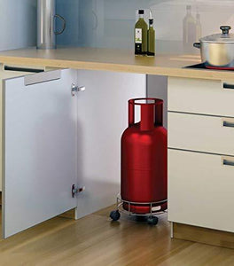 0118 Stainless Steel Gas Cylinder Trolley