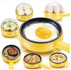 2150 Multi functional Electric 2 in 1 Egg Frying Pan with Egg Boiler Machine Measuring Cup with Handle