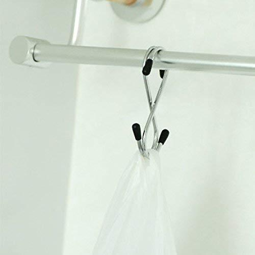 0232 Heavy Duty S-Shaped Stainless Steel Hanging Hooks - 5 pcs