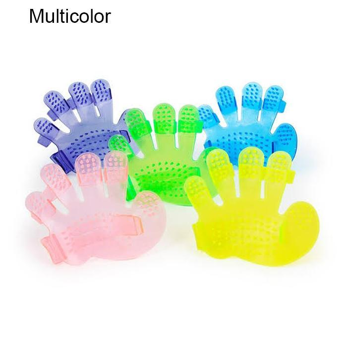 0172 Rubber Pet Cleaning Massaging Grooming Glove Brush