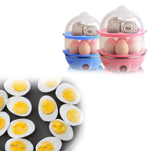 0115 Multi-Function 2 Layer 14 Egg Cooker Boilers & Steamer