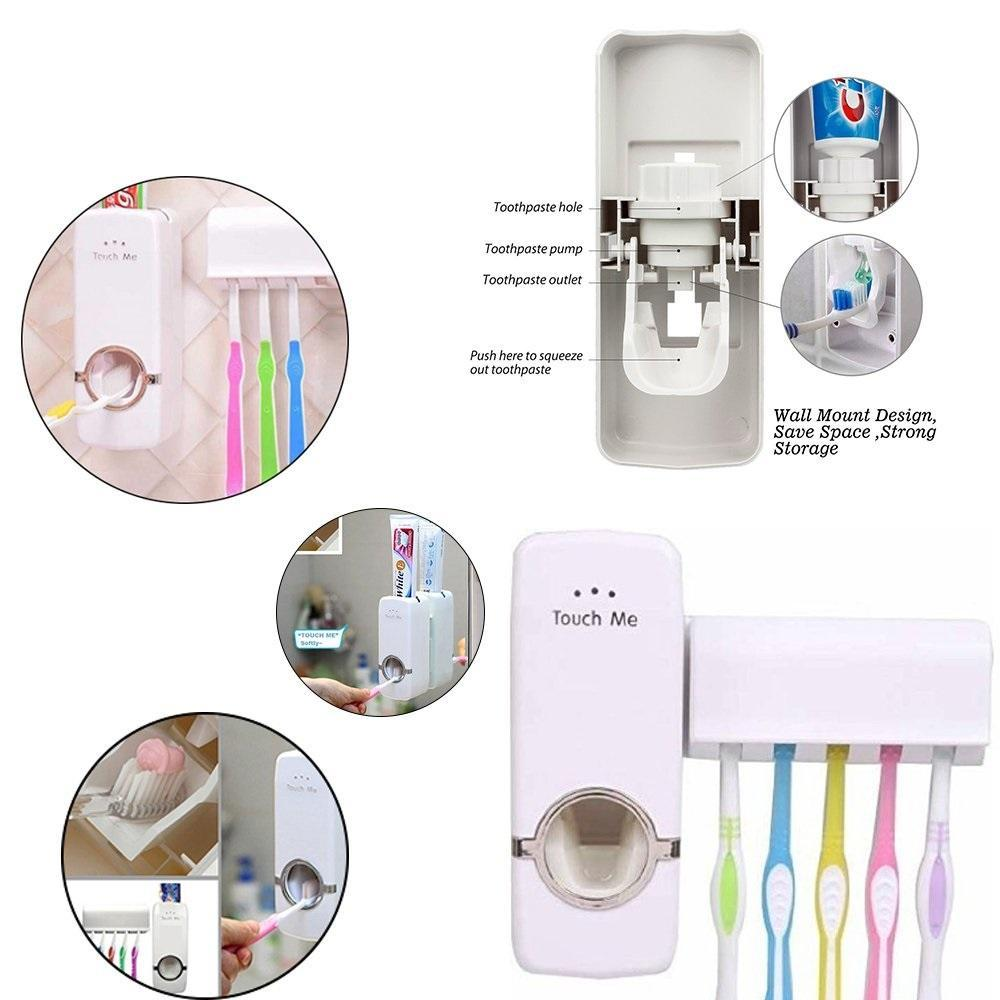 0174 Toothpaste Dispenser & Tooth Brush Holder