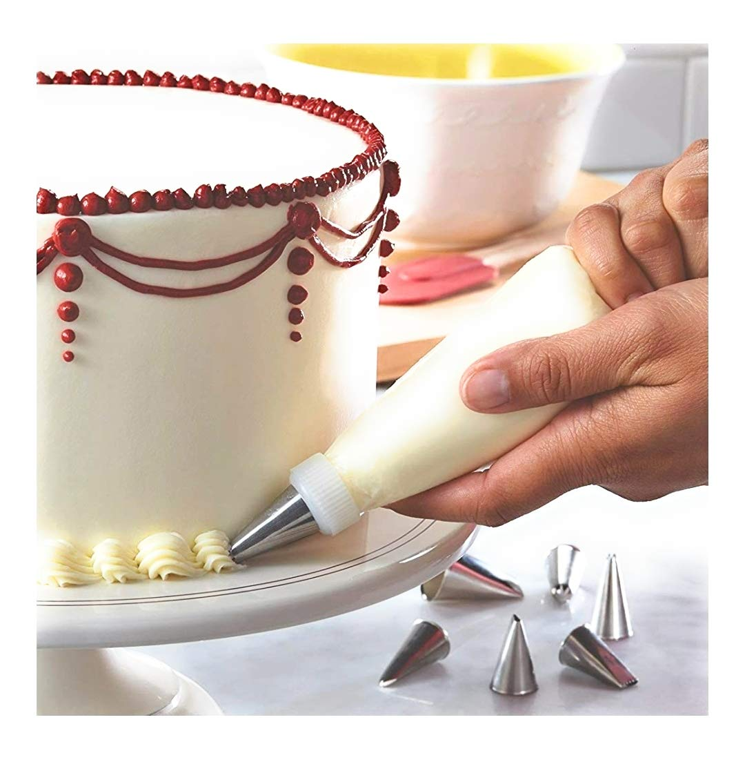 0836 12 Piece Cake Decorating Set of Measuring Cup Oil Basting Brush