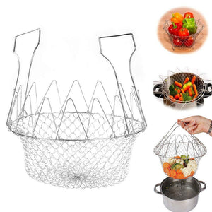 0139 Foldable Strainer Chef Basket