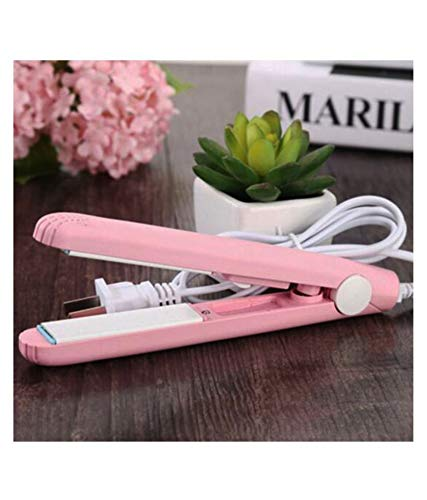1215 Mini Portable Electronic Hair Straightener and Curler