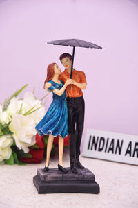Best Love Couple Antique Showpiece with Umbrella For Wedding Anniversary Gift