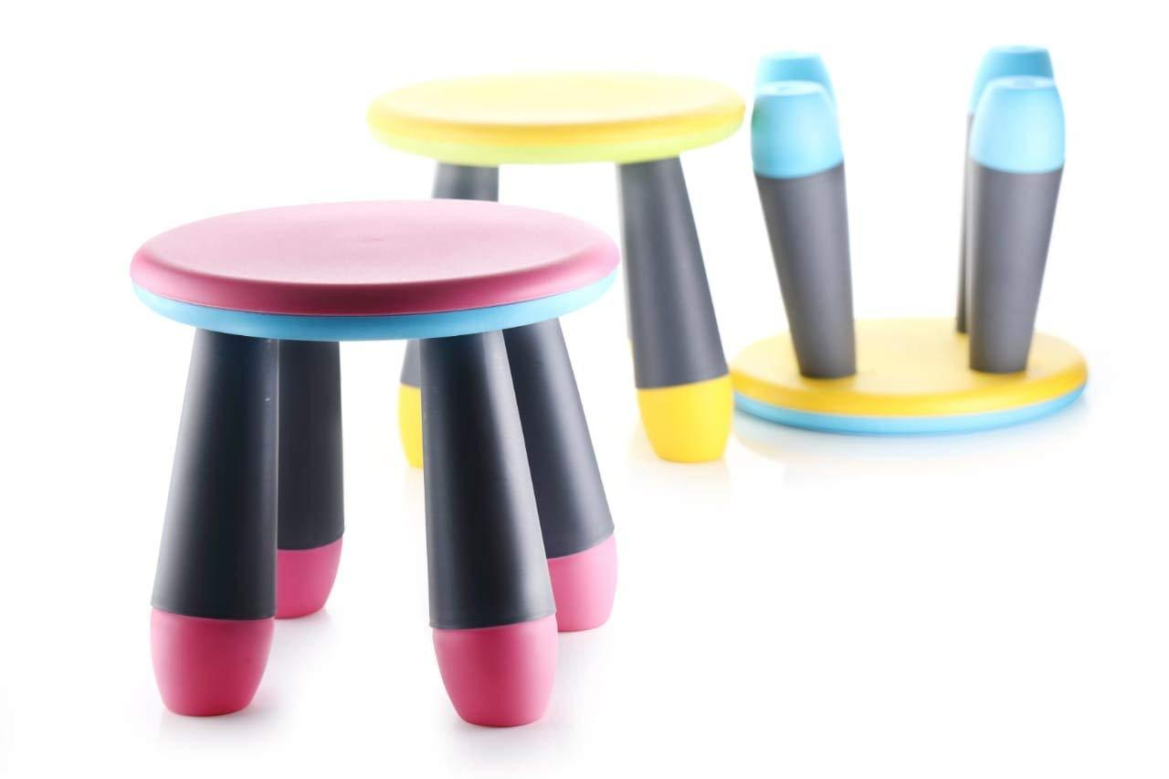 3027 Foldable Stool for Adults and Kids, Multi-Purpose  Pick N Move Portable Baby Stool (Multi Colour)
