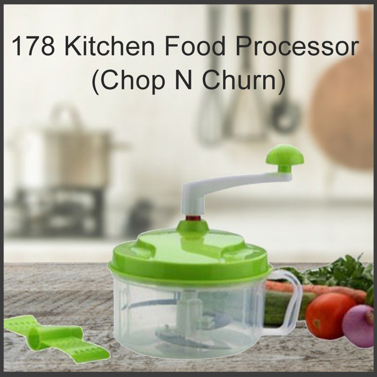 0178 Kitchen Food Processor (Chop N Churn)