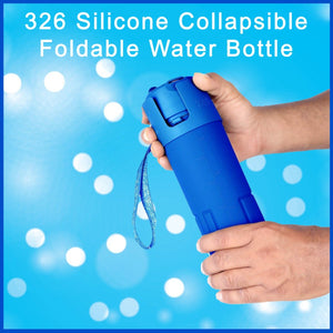 0326 Silicone Collapsible/Foldable Water Bottle