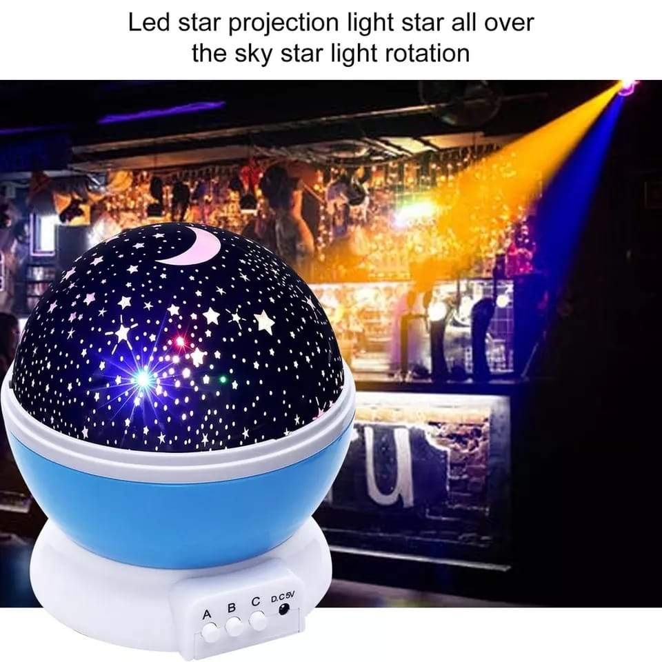1234 Colour Changing Good Night Star Master Rotating Projection Night Lamp