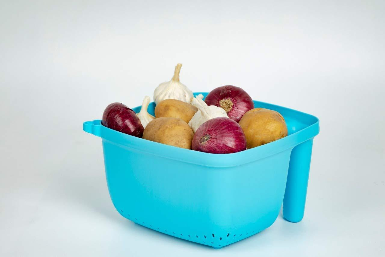 2097 Vegetables and Rice Plastic Washing Bowl with Handle
