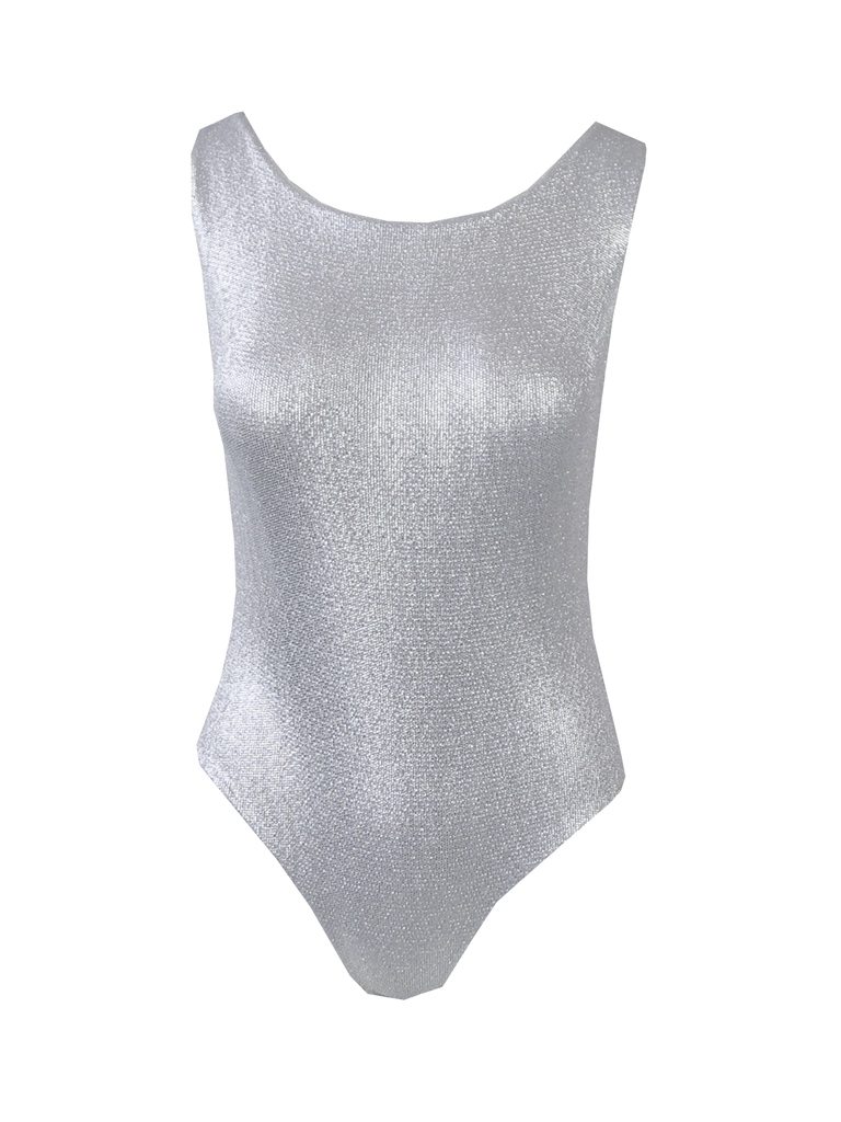 ILENIA - body in print silver lurex