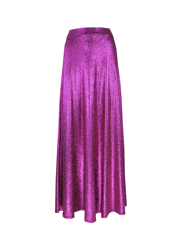 TOSCA - long skirt in fucsia lurex