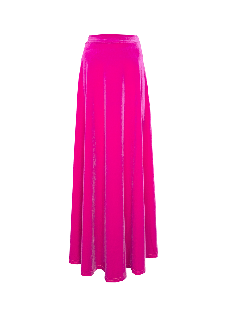 TOSCA - long skirt in pink chenille