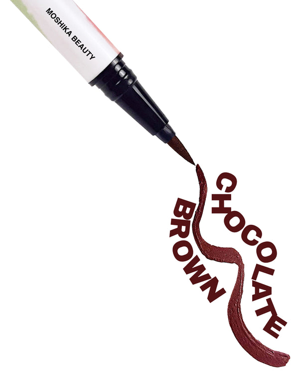 Moshika Beauty - Adhesive Eyeliner - Chocolate Brown