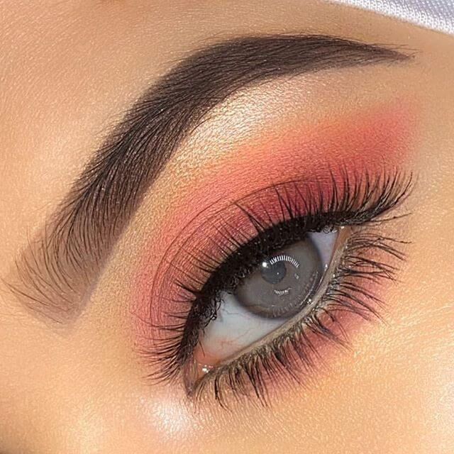 Moshika Beauty I am Exquisite - 3D Mink Lashes - Female with Coral Pink Eye Makeup